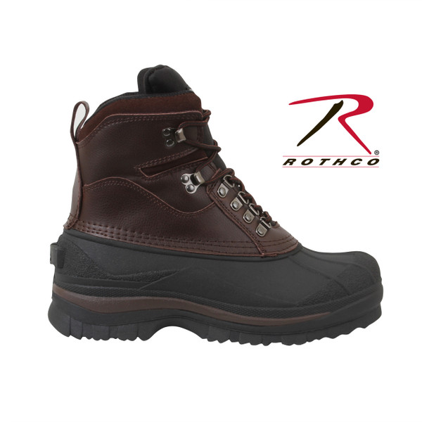 """Rothco 8"""" Cold Weather Hiking Boots are perfect for cold, snowy and wet conditions, these winter boots keep feet warm and dry. Rothco's patented Thermoblock technology provides insulation (200 gm) for warmth and the suede leather uppers offer comfortable protection from the elements. These cold weather boots also feature EVA midsole, taped seams for waterproofing, and rubber outsoles that provide pliable traction in cold, wet and snowy conditions."""