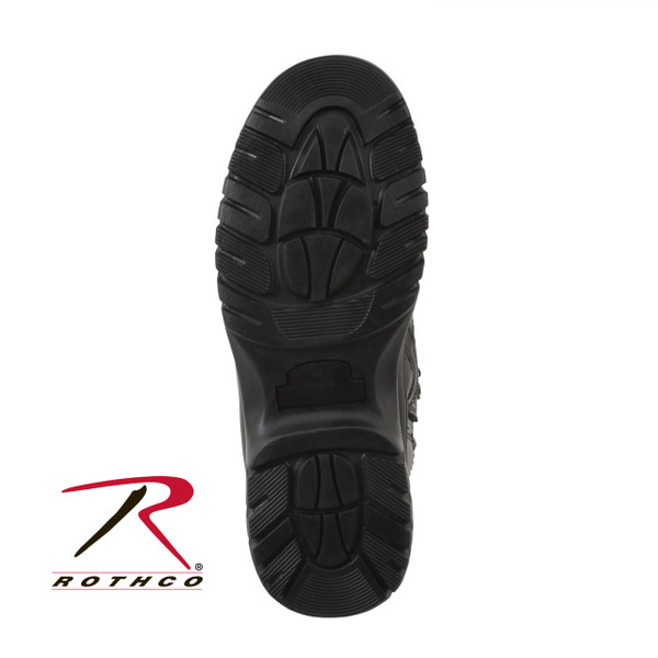 One Of Our Number One Tactical Boots, Rothco's Forced Entry Tactical Boots Are Constructed With A Full Grain Leather Vamp, Action Leather Upper, Pigskin Leather Collar, Steel Shank Gusseted Tongue Slip, Resistant Sole, Rust Proof Hardware Speed Laces And Have Moisture Wicking Lining. The Boots Are Available In Sizes 5 To 15 (Including 1/2 Sizes Up To 10 1/2)