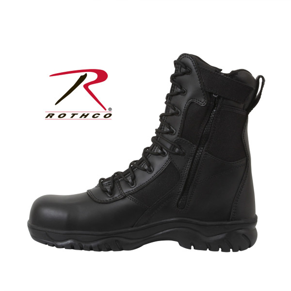 8 Inch Forced Entry Tactical Boot With Side Zipper and Composite Toe
