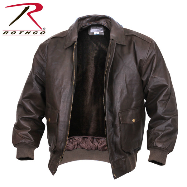 Retro Look Classic Nappa Leather A-2 US Military Flight Jacket