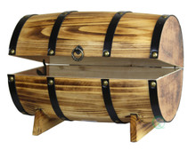 Wooden Barrel Treasure Chest