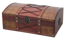 Pirate Treasure Chest/Box with Leather X
