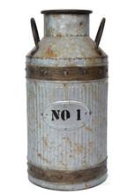 Galvanized Metal Rustic Milk Can