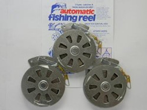 3 pack of Mechanical Fisher - Yo Yo's with Stainless steel speing, flat trigger.
