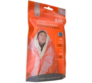 "S.O.L.(Survive Outdoors Longer) Survival Blanket 56""X84"" - $5"