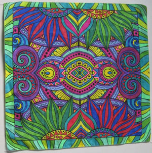 Color me Bandanna in Sunflower design, artist Sandy