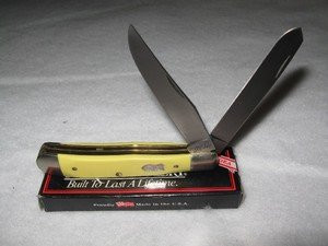 1980's Schrade Cutlery Yellow Trapper Model 296Y, NIB - $89