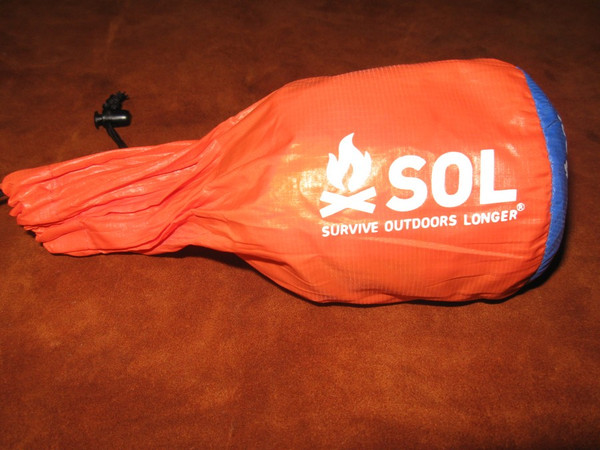 Bag with S.O.L. Emergency Bivvy