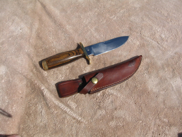 Right side of S&W survival knife and sheath