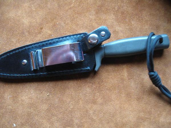 back side of knife and sheath
