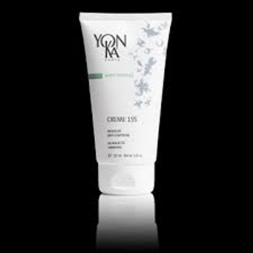 Description Creme 155 is a multi-functional, high performance creme that sculpts the body contours to perfection. This formula also assists in reducing the appearance of cellulite and uneven skin tone.  Product Details Brand:	 Yon-Ka Paris Skincare Directions:	 Apply the cream morning and/or night after the shower or bath with Phyto Bain on slightly damp skin, concentrating on the concerned areas. For a strengthened slimming effect, alternate with Creme 55.  Ingredients:	 Aqua/Water, Glyceryl Stearate SE, Pinus Pinaster (Maritime Pine) Bark Extract, Glyceril Stearate SE, Menthyl Salicylate, Glycerin, Propylene Glycol, Glyceryl Stearate, PEG-100 Stearate, Glyceryl Myristate, PEG-35 Castor Oil, Myristaica Fragrans (Nutmeg) Extract, PEG-75 Stearate, Arctium Lappa (Burdock) Root Extract, Fraxinus Excelsior (European Ash) Leaf Extract, Borneol, Alcohol Denat, Terpineol, Juniperus Virginiana (Cedar) Wood Oil, Lavandula Angustifolia (Lavender) Oil, Pelargonium Graveolens (Geranium) Leaf Oil, Rosmarinus Officinalis (Rosemary) Leaf Oil, Curpressus Sempervirens (Cypress) Oil, Thymus Vulgaris (Thyme) Flower/Leaf Oil, Cetyl Alcohol, Capiscum Annuum Resin, Hedera Helix (Ivy Leaf) Extract, Gaultheria Procumbens (Wintergreen) Leaf Oil, Peg-6 Stearate, Algin Sclerotium Gum, Phenoxyethanol, Chlorphenesin, Limonene*, Linalool*, Citronellol*, Geraniol, Coumarin*, Isoeugenol*. *Natural Components Of Essential Oils.