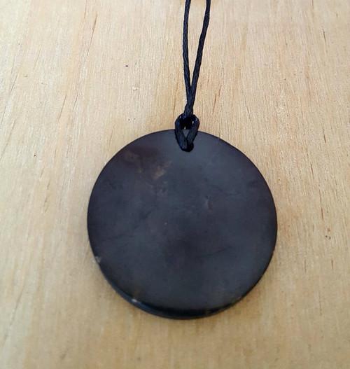 Shungite Circle  Protection necklace