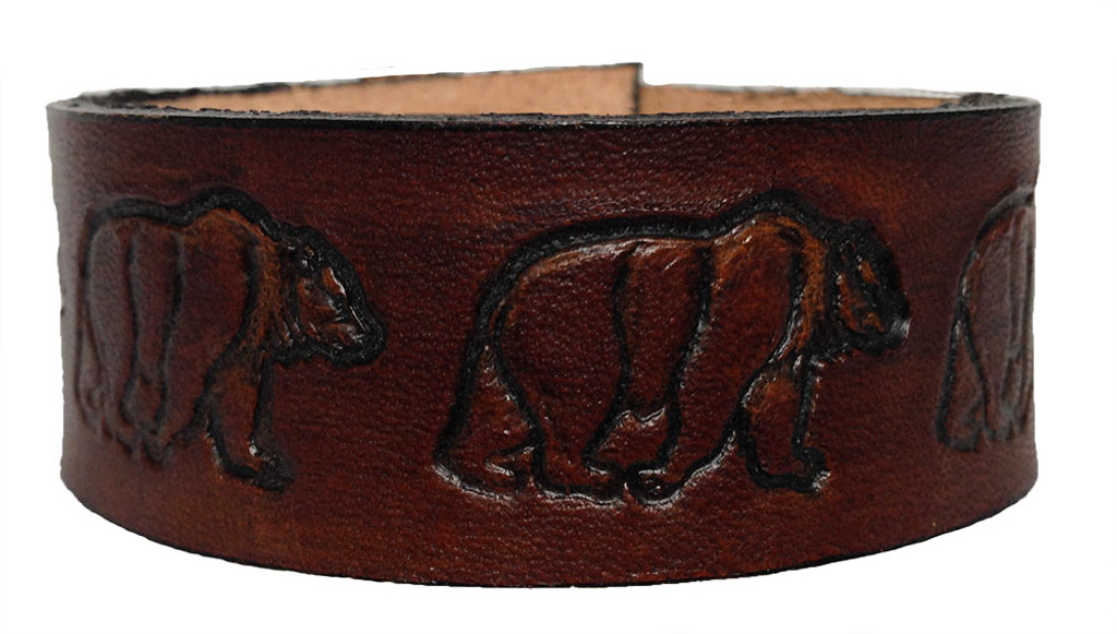 'Bear' Leather Wristband