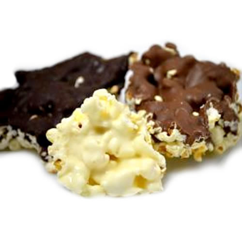 Fresh Popped Popcorn Covered In Chocolate