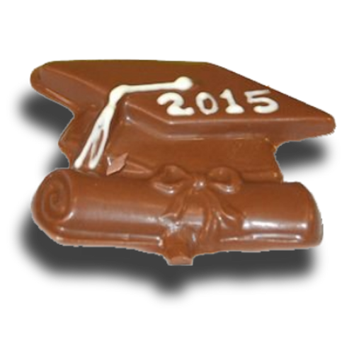 Chocolate Graduation Cap and Diploma