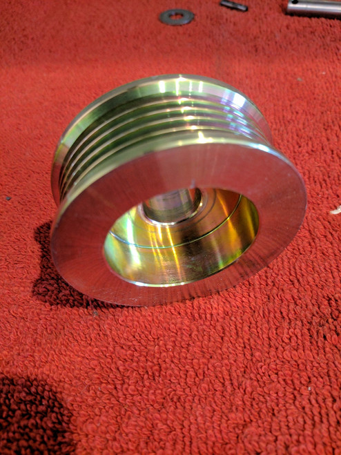 Serpentine Alternator Pulley 4 groove for Supercharged Applications