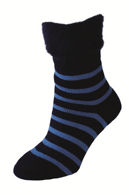 Bed Sock Stripe Navy