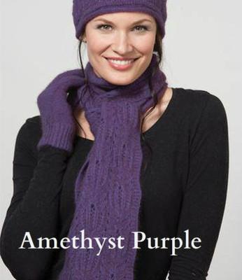 Amethyst purple Chunky Cable Scarf by possumdown