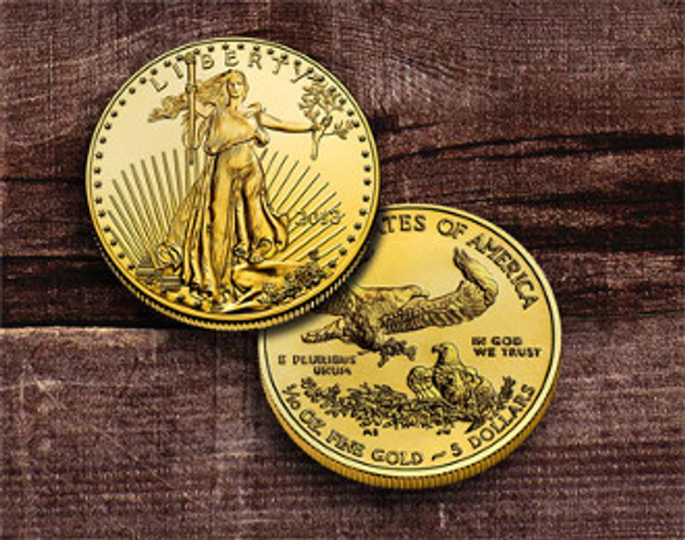$5 American Gold Eagle 1/10 oz.