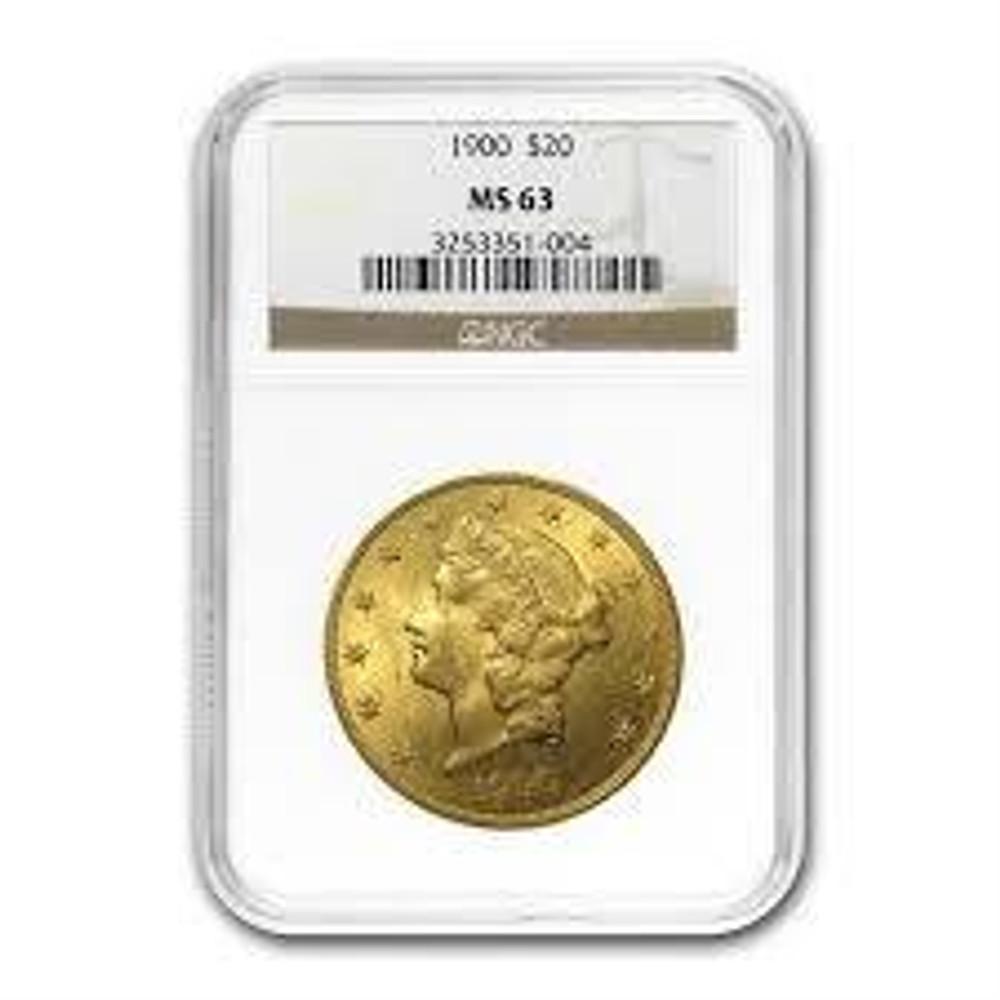 NGC/PCGS MS63 $20 Liberty Gold Coin