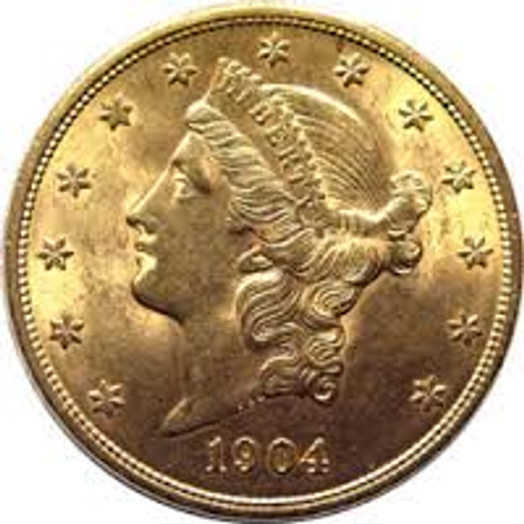 Almost Uncirculated (AU) $20 Liberty Gold Coin