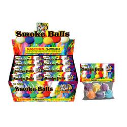 Colored Smoke Balls - 12 Pieces