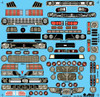 Funny Car Grill & Headlights Decal Sheet 1/16