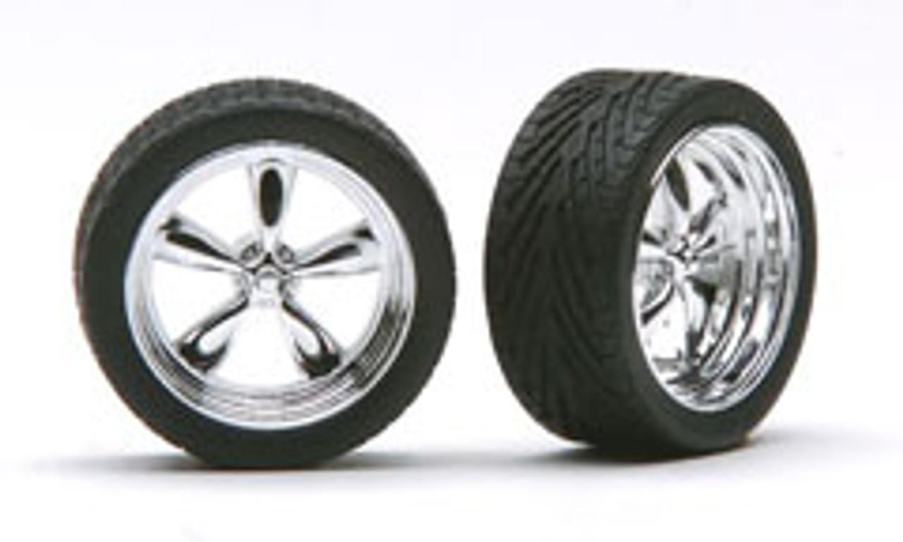 """23"""" Chrome T's Wheels & Tires (2 pair)  1/24-1/25"""