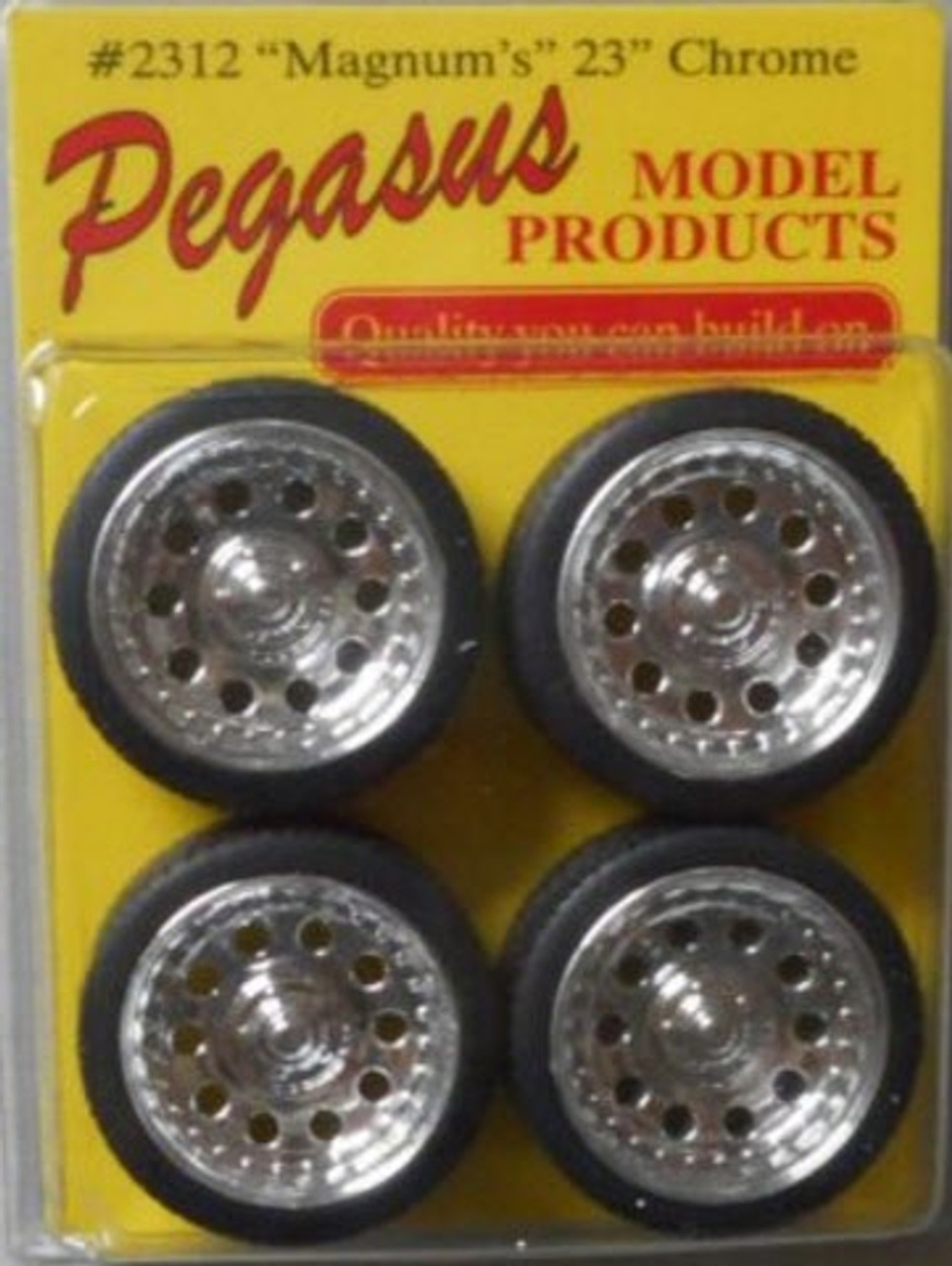 "Magnum 23"" Wheels & Tires (2 pair) 1/24-1/25"