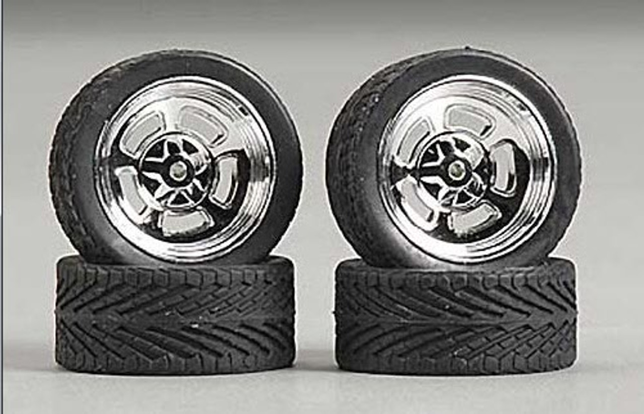 "23"" Holli's (Halibrand) Wheels & Tires (2 pair) 1/24-1/25"