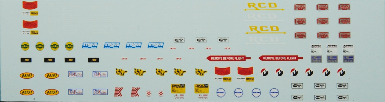 Blower Belts, Restraint Bags, Chutes & Chassis ID Decal Sheet 1/25