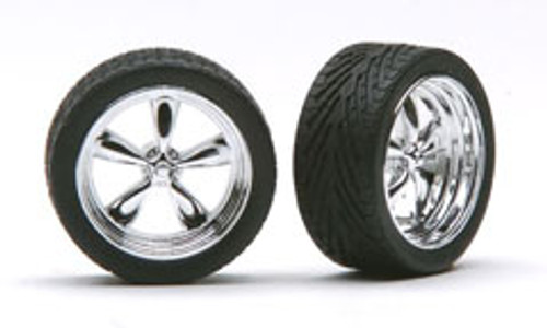 "23"" Chrome T's Wheels & Tires (2 pair)  1/24-1/25"