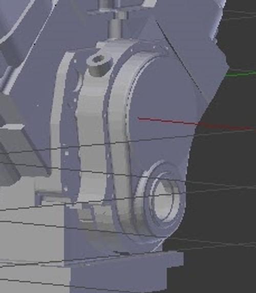 Magneto/Distributor Front-DriveTiming Cover BBC 1/25