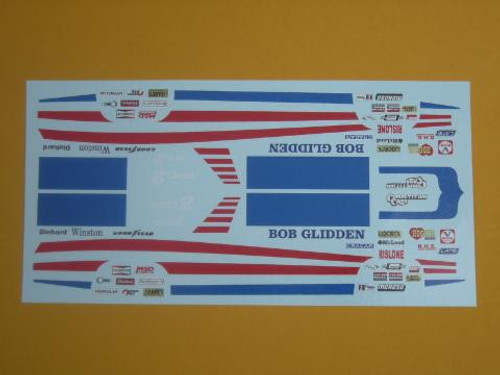 Fairmont 1978 Pro Stock Bob Glidden Decals1/25