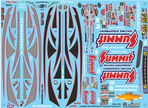 Summit Racing Pro Stock Camaro Decal Sheet #1 1/25
