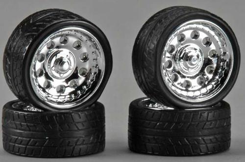 """Magnum 23"""" Wheels & Tires (2 pair) 1/24-1/25"""