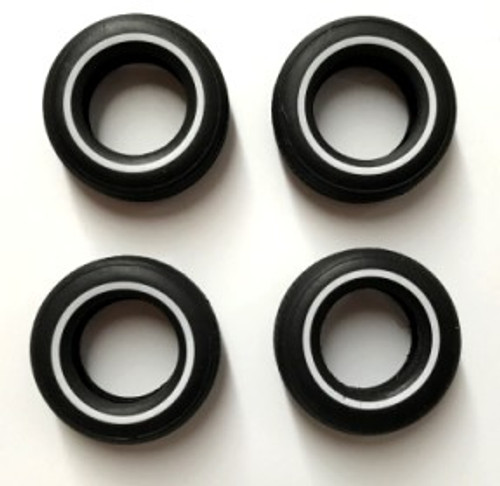 White Wall Tire Set of 4 1/25