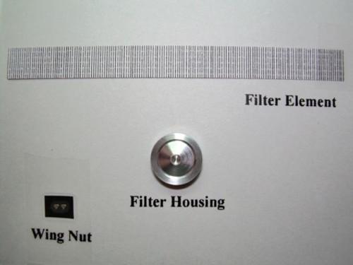 "Round 9"" Aluminum (Edelbrock Style) Air Cleaner 1/25"