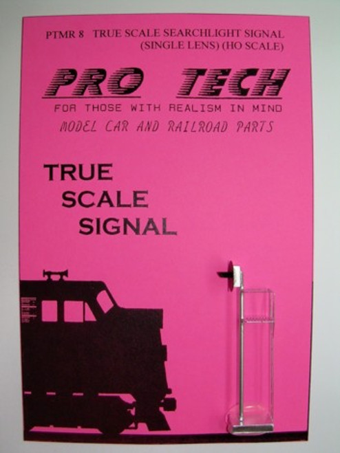 True Scale Searchlight Signal HO Scale (single lens, photoetched) Pro Tech