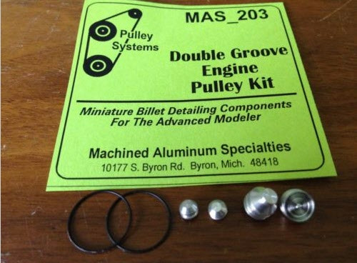 2-Belt Double-Groove Pulley Set 1/25
