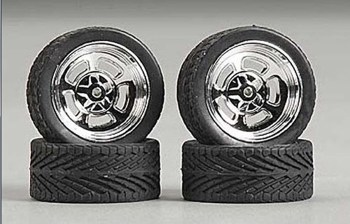 "23"" Holli's (Halibrand) Wheels & Tires (2 pair) 1/24-1/25"