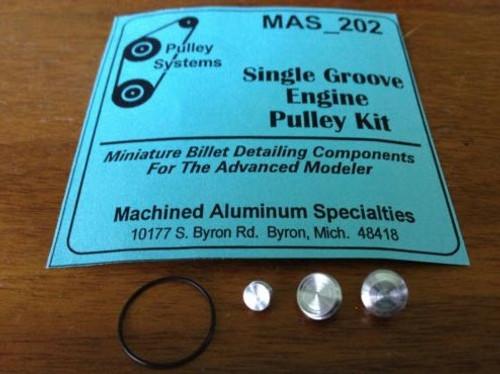 Single-Groove Pulley Set w/Belt 1/25