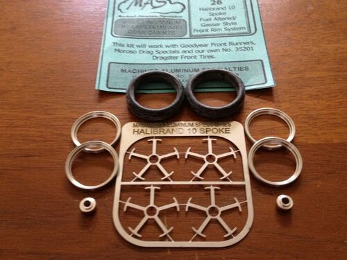 Hallibrand 10-Spoke Wheel & Tire Set 1/25