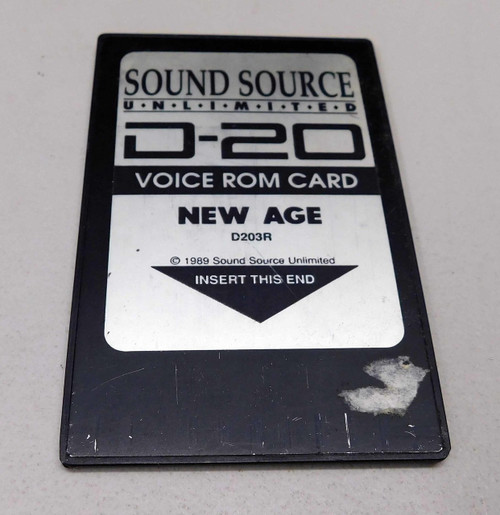 Roland D-20 New Age Voice Rom Card by Sound Source Unlimited