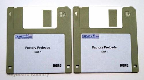 Korg Trinity V3 Factory Pre-Load Disks