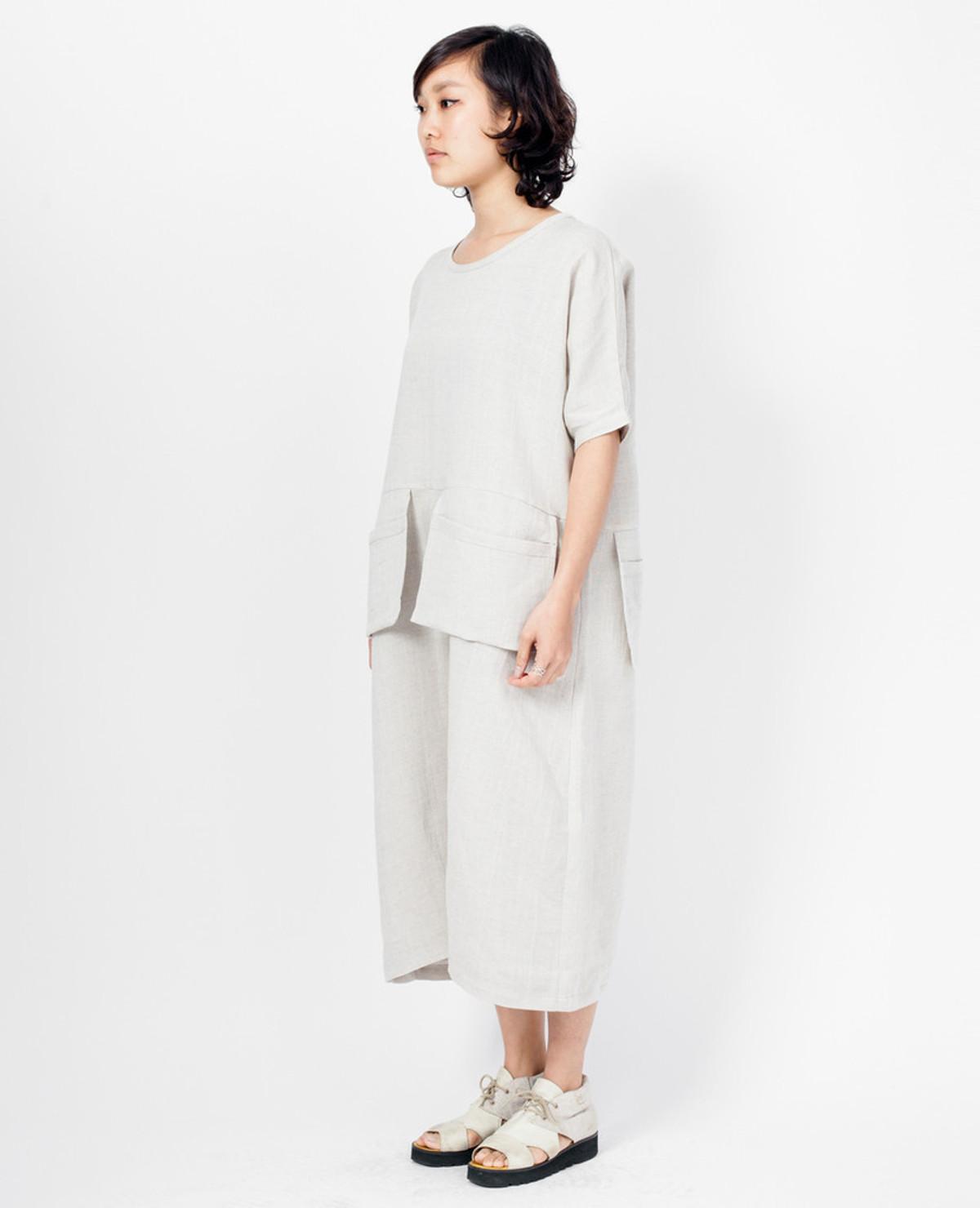 Grock Jumpsuit - Natural Linen