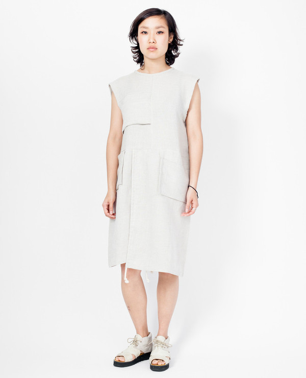 Murnau Dress - Natural Linen