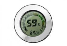 Digital Hygrometer - Polished Silver