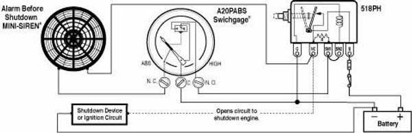 oil pressure gauge a20p a25p murphy a2o boating & marine supply murphy 117 switch 117 murphy switch wiring diagram