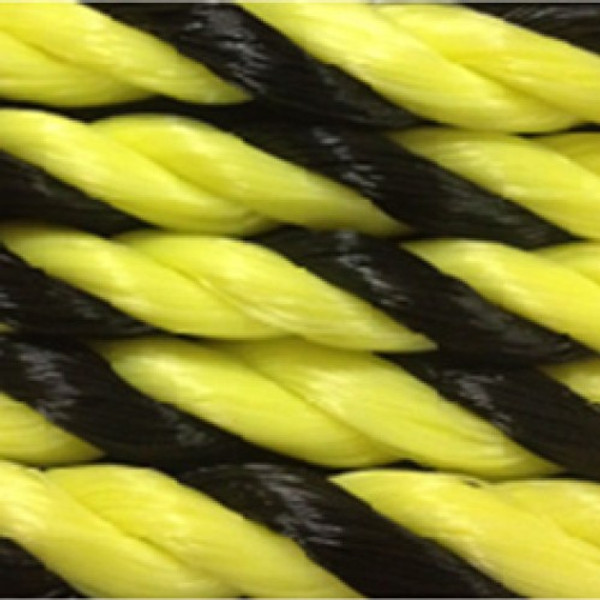 """1 1/2"""" Yellow and Black Polypropolene 600' Coil"""